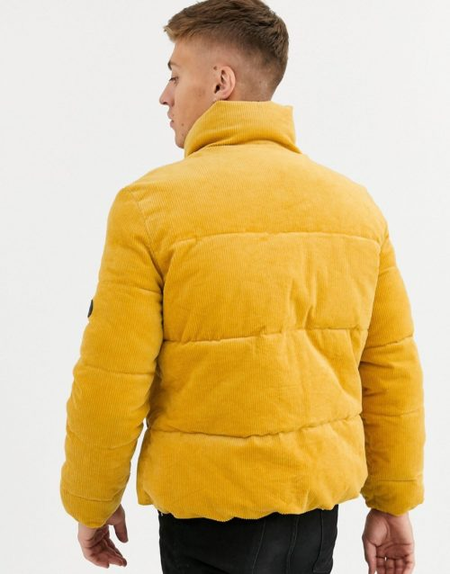 Native Youth cord puffer jacket-Yellow