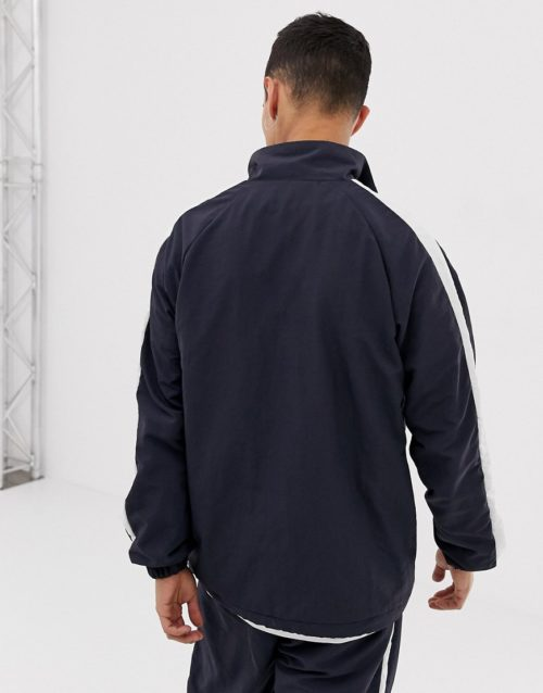 Only & Sons overhead track jacket-Navy