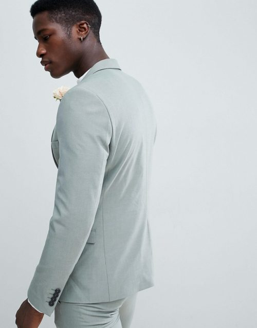 Selected Homme Skinny Fit Suit Jacket In Green