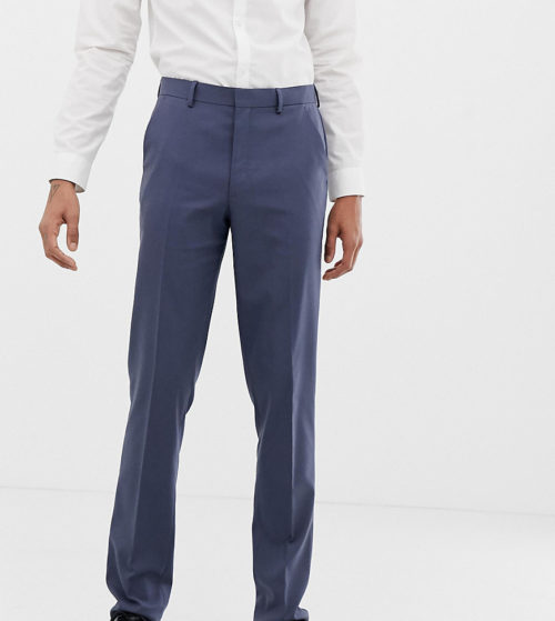 ASOS DESIGN Tall slim suit trousers in slate blue