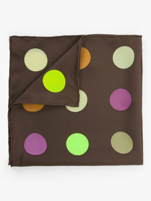 FRAAS Polka Dot Planet Square Silk Scarf