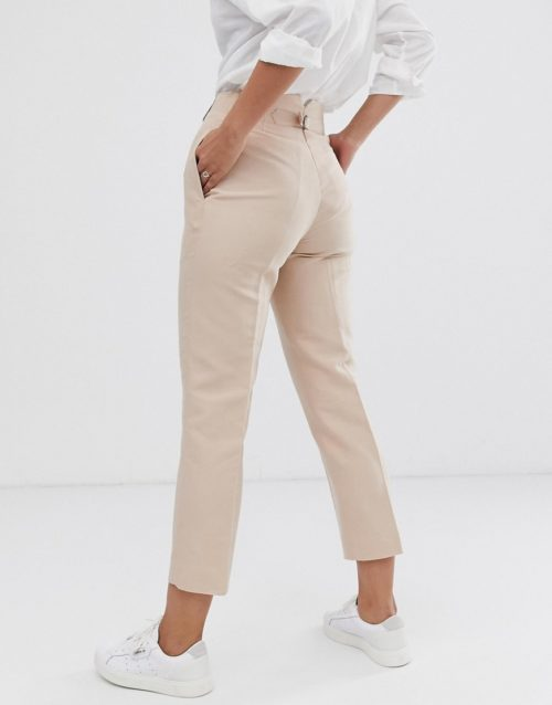 Finery Oliver linen blend trousers-Pink