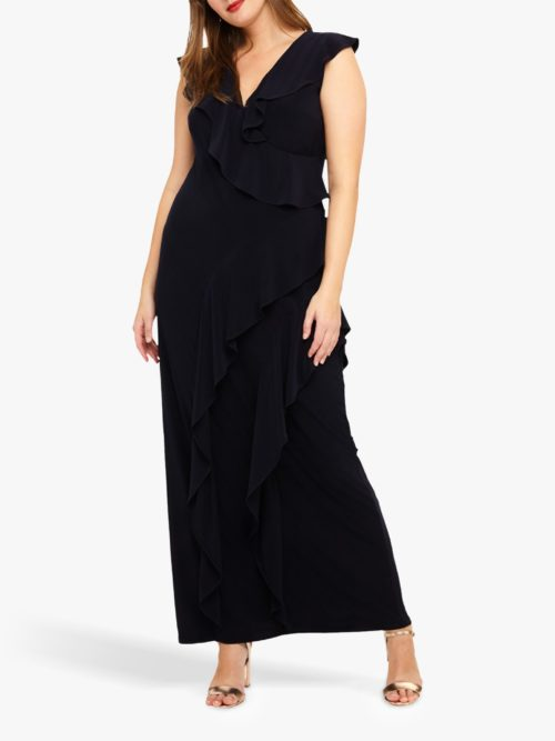 Studio 8 Lida Ruffle Maxi Dress, Navy