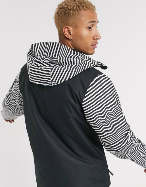 Volcom 17Forty Ins snow jacket with stripe detail in black