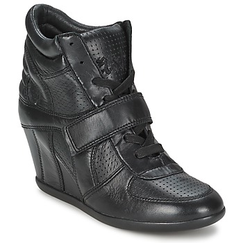 Ash BOWIE women's Shoes (High-top Trainers) in Black