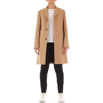 Calvin Klein Jeans K10K104682 Long Man Cammello men's Coat in Beige