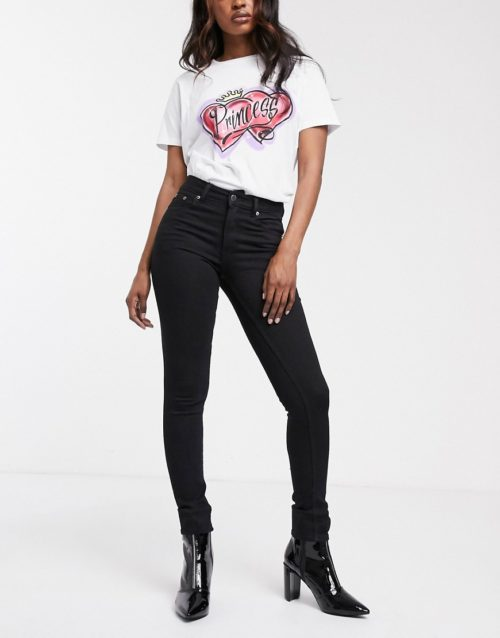 Cheap Monday Mid Skin skinny jeans-Black