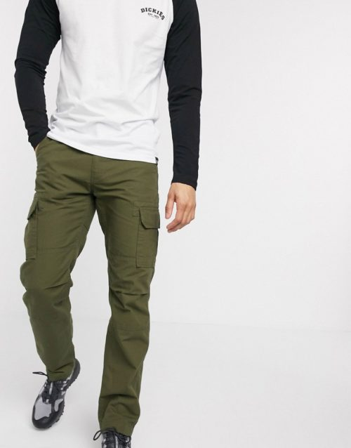Dickies Edwardsport cargo pant in khaki-Green