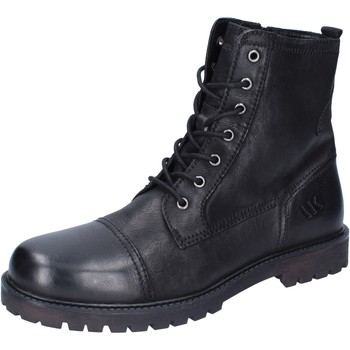 Lumberjack ankle boots leather men's Mid Boots in Black