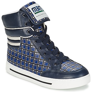 Marc by Marc Jacobs CUTE KIDS MINI TOTO PLAID women's Shoes (High-top Trainers) in Multicolour