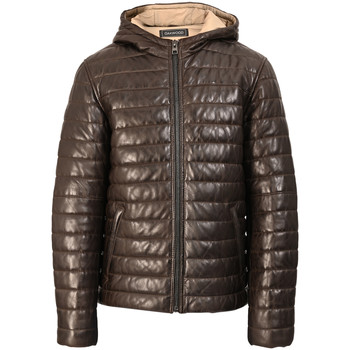 Oakwood ACTION leather down jacket men's Jacket in Brown