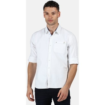 Regatta Banning Coolweave Long Sleeved Shirt White in White