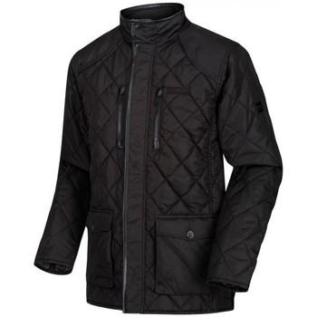 Regatta Lander Quilted Jacket Black men's Coat in Black