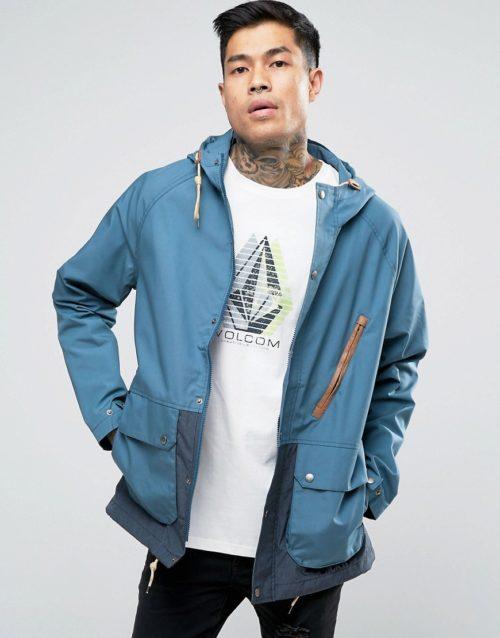Volcom Wenson Hooded Parka Jacket-Grey