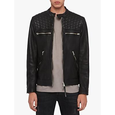 AllSaints Amersham Leather Biker Jacket, Black