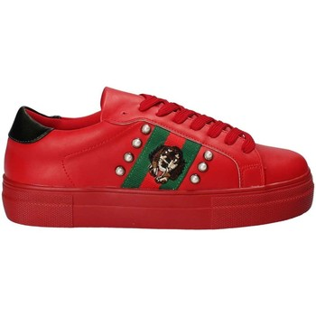 Gold gold B18 GT517 women's Shoes (Trainers) in Red