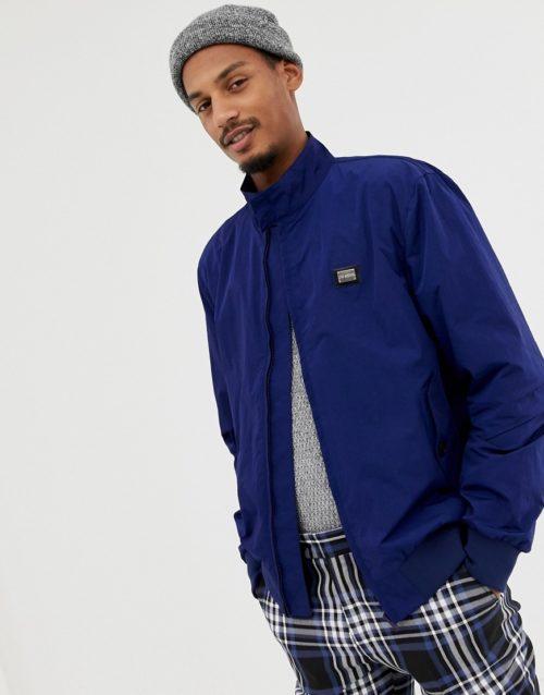 Love Moschino chest placket bomber jacket-Navy