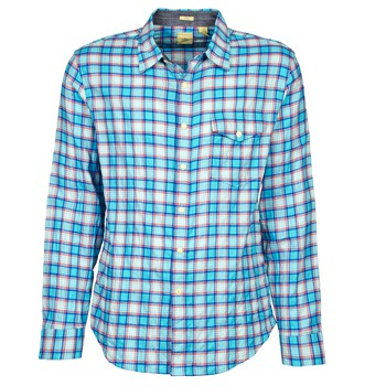 Dockers THE TWILL WRINKLE SHIRT men's Long sleeved Shirt in Blue
