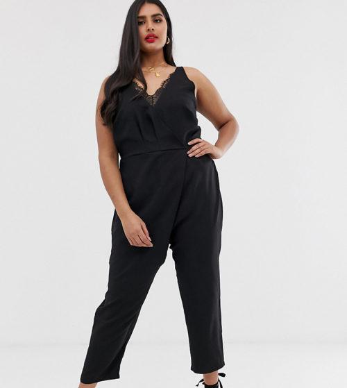 Koko jumpsuit with lace details-Black