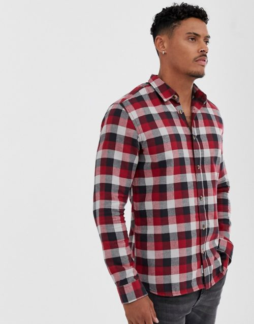 Only & Sons check shirt-Red