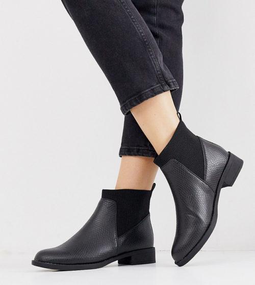 Park Lane wide fit chelsea boots in black