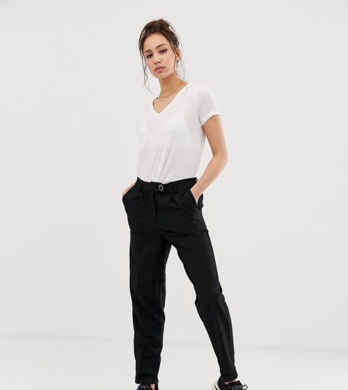 Vero Moda Tall high waist tapered leg trouser-Black