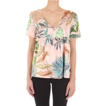 Vicolo TU1547 women's Blouse in Pink. Sizes available:EU M